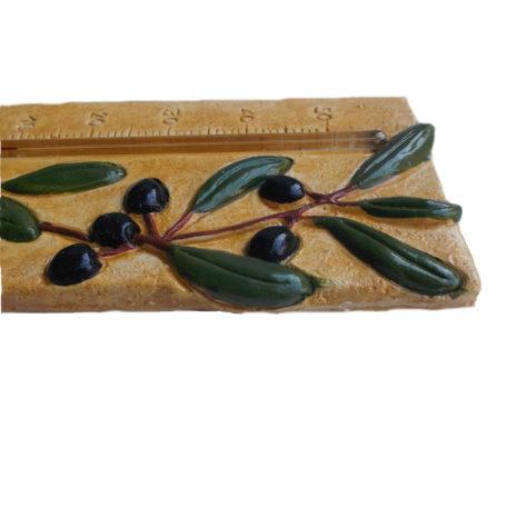 Thermomètre provençal olives de profil