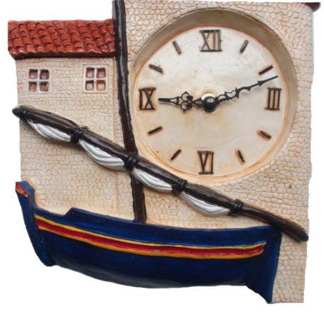 Horloge barque catalane détail