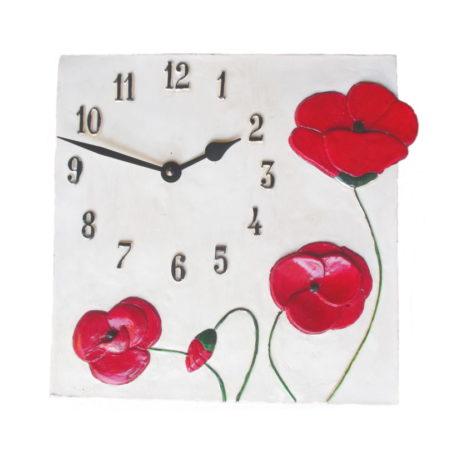 Horloge coquelicot