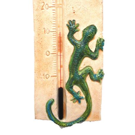 Thermomètre gécko en détail