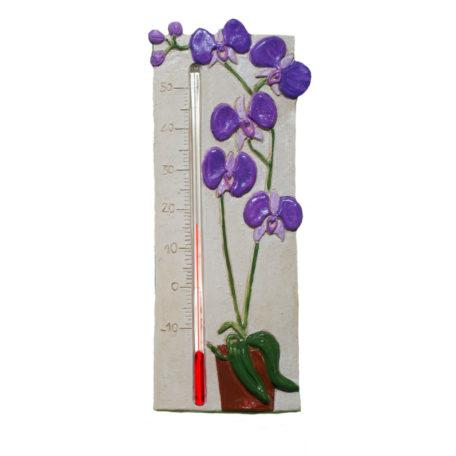 Thermomètre orchidée mauve