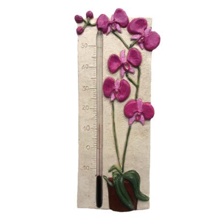 Thermomètre orchidée rose