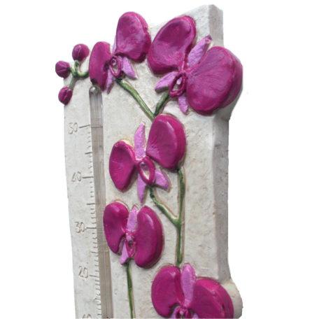 Thermomètre orchidée rose de profil