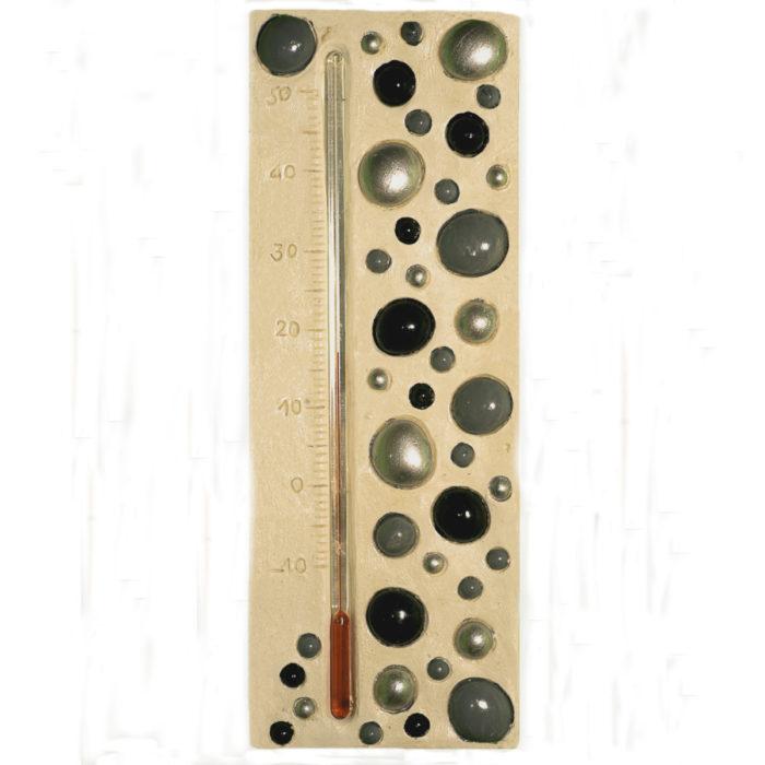 Thermometre bulle noir, gris, a,nthracite et argenté