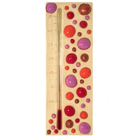 Thermomètre bulle rouge, avec des pois rouges