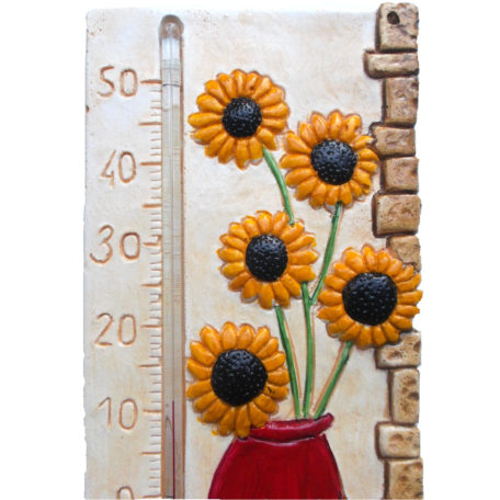 Thermomètre tournesol en gros plan