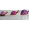 Thermomètre horizontal avec escargots roses violine