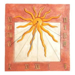 Cadran solaire Soleil jaune