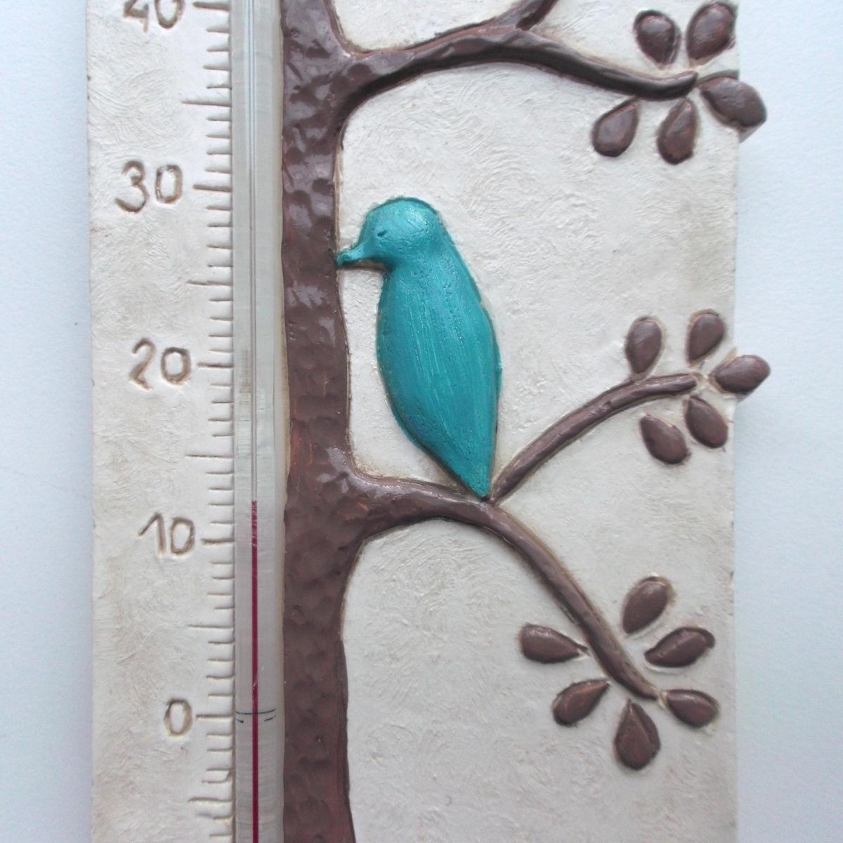 10 cm Superbe verre chambre-Thermomètre blanc avec Facette marque allemande Celsius