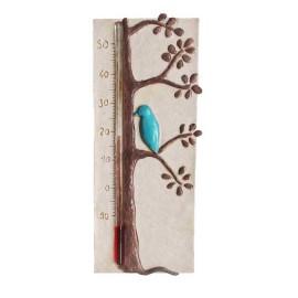 Idée cadeau déco noel: horloge thermomètre, cadran solaire original et artisanal