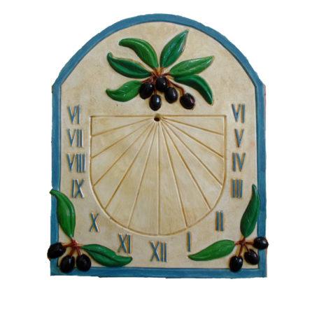 Cadran solaire provençal bleu
