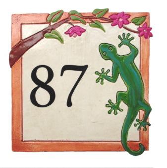 Plaque numéro de maison personnalisé