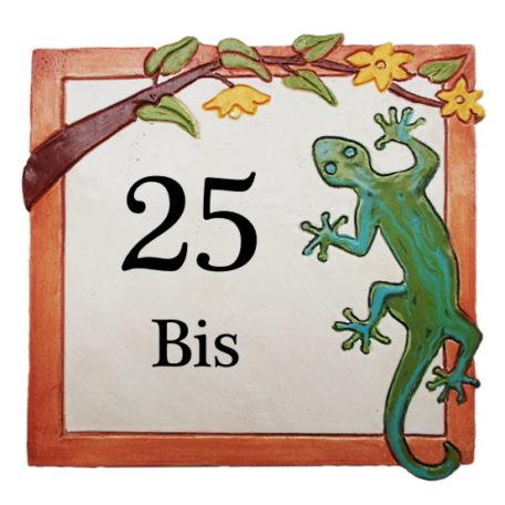 Plaque numéro de maison avec 2 chiffres et Bis