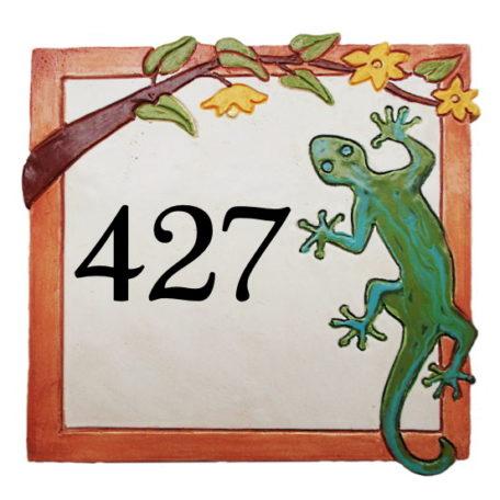 Plaque de numéro de maison  personnalisée avec 3 chiffres horizontaux