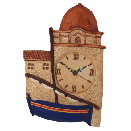 Horloge barque catalane bleu