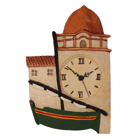 Horloge barque catalane vert