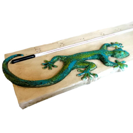 Thermomètre géant salamandre de profil