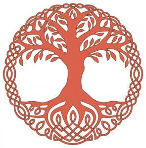 Arbre de vie celte représenté sur la cadran solaire arbre de vie