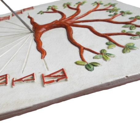 Cadran solaire arbre de vie de profil