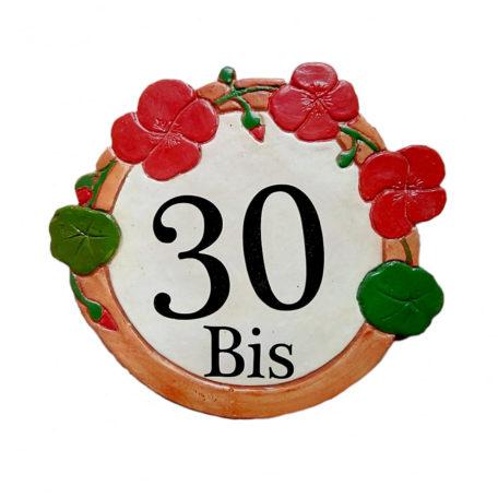 Numéro maison decoration fleur