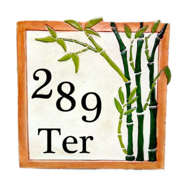 Un numéro de maison zen bambou personnalisable